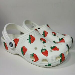 New Crocs Strawberry Vacation Vibes Classic Clog Size W7/M5 & W8/M6