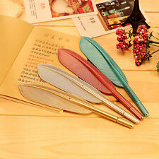 4Pcs 0.5mm Cute Novelty Feathers Gel Pen Black School Office Stationery