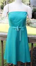 Ann Taylor Dress Strapless Green Formal Prom Cocktail  Size 10 P  NWT RV $129