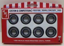 AMT  PP019  1/25 Pad-Printed Vinyl Tires Firestone Double Pinstripe AMTPP019-NEW