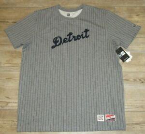 Detroit Tigers New Era Vintage Style Pinstripe Baseball Shirt Jersey Men Medium