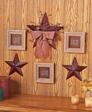 6-Pc Live Love Laugh Framed Signs & Country Stars Rustic Primitive Wall Decor