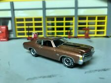 1/64 71 Chevelle SS454 in Root Beer/Blk Stripes/Blk Int/Rally Wheels/Rubber Tire