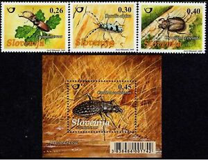 Slovenia 2009 ☀ Fauna - Insects - complete set + MSS ☀ MNH **