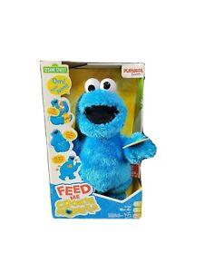 """Sesame Street 13"""" Feed Me Cookie Monster Plush Talking Singing Shaking-FUN! EUC!"""
