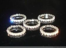 1 Clear Crystal diamonte Stretchy Crystal finger ring /Toe Rings