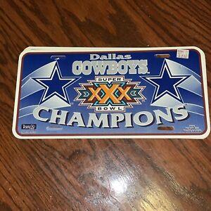 DALLAS Cowboys License Plate Super Bowl XXX Champions Team NFL Car Tag Plastic