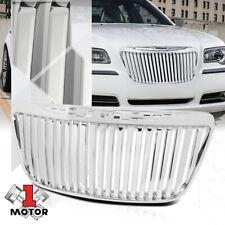 For 2011-2014 Chrysler 300/300C {VERTICAL-BAR} Glossy Chrome Bumper Grille Grill