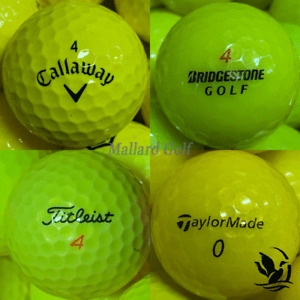 AAA-AAAAA Yellow Value to Mint Condition Used Golf Balls Assorted Brands