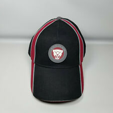 Jaguar Mens Strapback Baseball Cap One Size Black Red Embroidered New