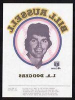 Bill Russell 1976 Quaker Ice Cream Iron-on Transfer LOS ANGELES DODGERS