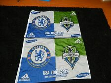 """Seattle Sounders Flags USA Tour 2012 CHELSEA FC Samsung pennant 36""""x24"""" Adidas-2"""