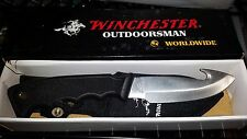 WINCHESTER GUT HOOK HUNTING KNIFE & SHEATH W4014001 NIB