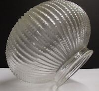 "Holophane Style Clear Prismatic Lamp Shade Ball 3 1/8"" fitter Hall Globe Fan"