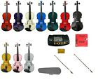 NEW Viola,Case,2 Bows,2 Sets of Strings,Rosin,Metro Tuner 16
