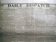 Rare original CONFEDERATE CIVIL WAR newspaper dated 1861 - 1865  : 150 years old