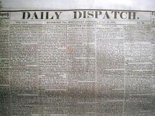 Rare original CONFEDERATE CIVIL WAR newspaper dated 1861 - 1865  : 150 years old