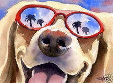 Labrador Retriever Dog Watercolor 8 x 10 Lab Art Print Signed by Artist Djr