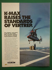 6/1995 PUB KAMAN AEROSPACE HELICOPTER HELICOPTERE KAMAN K-MAX US NAVY AD