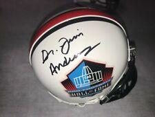 Dr. James Andrews Hall of Fame auto signed mini helmet Tommy John RARE ITEM
