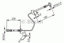 REAR LEFT BRAKE HOSE LINE PIPE OE QUALITY REPLACEMENT BOSCH 1987476199
