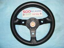 FIAT 500 F/L/R VOLANTE SPORTIVO A 3 RAZZE LUISI NERO + CLACSON FIAT NIBBIO 32
