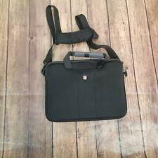 Wenger Black Zipper Adjustable Strap Handle Laptop Portfolio Bag