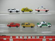 Ae792-0, 5# 6x Herpa h0/1:87 modelos turismos: Porsche, BMW emergencias, policía MB, vw ADAC