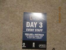 England v Australia Ist Investec Ashes Test 10/7/2015 Cardiff  Event Staff Pass.