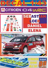 DECAL 1/43 CITROEN C4 WRC S.LOEB SWEDISH R. 2007 2nd (07)