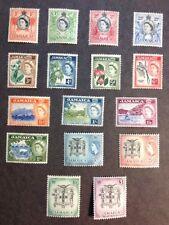 Jamaica 1956 Very Fine Mint LH Set of 16 Catalogs $102