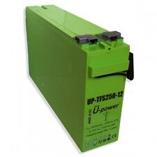 Batería AGM U-power TFS250-12 250AH 12V Solar battery sin mantenimiento