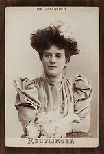 Julia Depoix Actrice Théâtre Photo Cabinet card Reutlinger Paris