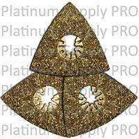 3 x Triangular Quick Release Oscillating Tool Carbide Rasp - DeWalt Compatible