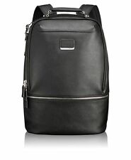 NEW Tumi Astor Stratford Leather Backpack Black 93250D Compact Laptop Brief Pack