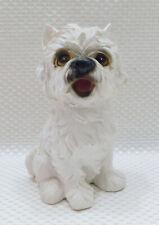 "Cute West Highland White Terrier Dog Puppy Sitting Figurine Resin 6"""
