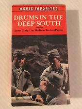 DRUMS IN THE DEEP SOUTH  VHS JAMES CRAIG, GUY MADISON, MOVIE FAVORITES