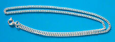 """5 x 16"""" silver plated complete curb necklace chains, ideal for pendants"""