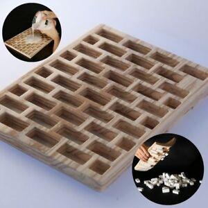 Mold for bricks wood style, scale mini brick building gypsum block DIY