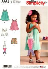 Simplicity Sewing Pattern Child's Dress Tgop Shorts & Bag Size 3 - 8 Years 8564