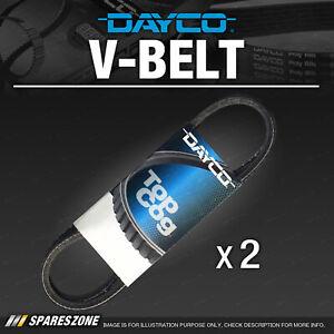 Dayco 2 pcs Alternator Belts for Mitsubishi Triton MK 4M40 2.8L Premium Quality