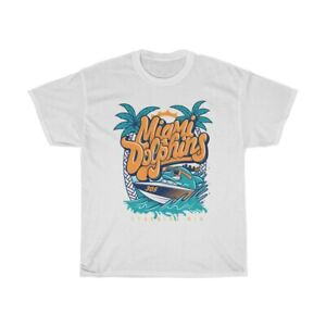 Miami Dolphins T-Shirt by Stunning MIAMI parareal Tee Top short size S-3XL TK111