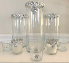 Wedding Centerpiece 8pc Set Stunning Blinging Rhinestone Candle Holders New