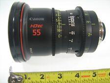 CANON LENS HD ec 55 FJ 55 CINEMA CINE PHOTO PHOTOGRAPH HIGH DEFINITION DIGITAL