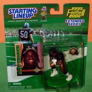1999 ext RICKY WILLIAMS New Orleans Saints NM- Rookie *FREE_s/h* Starting Lineup