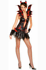 FAIR FLIRTY DEVIL FANCY DRESS Music Legs 70194 S/M