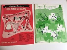 2 Book Irish Organ/Piano Music Lot - Irish Favorites - Folk Sings Of Ireland