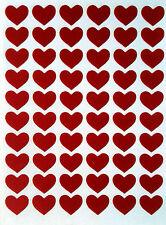 Rojo Corazón Pegatinas 12mm Auto adhesivo cáscara y del palillo de calidad superior 2400+ @ £ 2.99