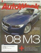 AUTOWEEK 2007 JAN 22 - NEW M3, CX-7, '37 R-R 25/30, G8, Z9, DETROIT SHOW*