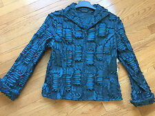 SAMUEL DONG size M Dark Teal Textured Dress Jacket , NWT